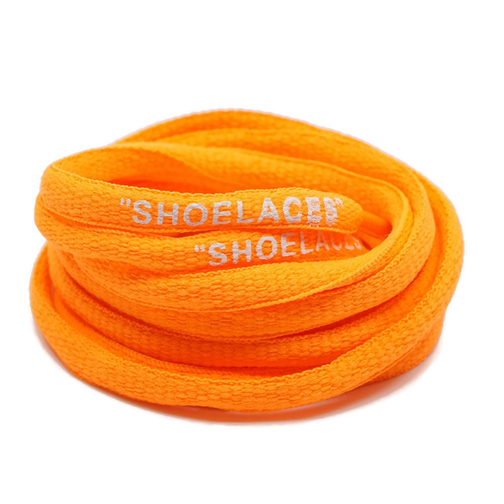 DoctorLaces -''Shoelaces'' Oval Shoelaces Off-White Inspired''The Ten'' (45'' (120CM), Orange)