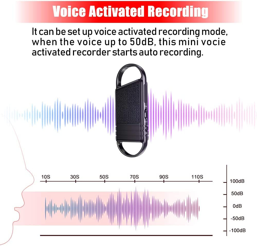 Portable Audio & Video Digital Voice Recorders 16G Voice Activated ...