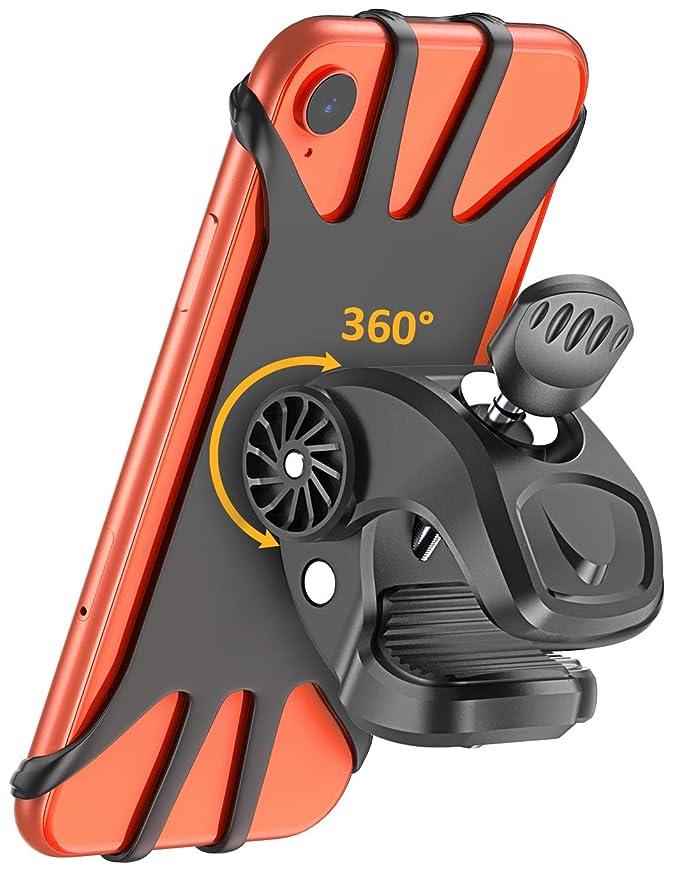 Cocoda Soporte Móvil Bicicleta, Soporte Movil Moto, Rotación 360° Ajustable Silicona Universal Montaje para Manillar de Bicicleta para teléfonos de ...