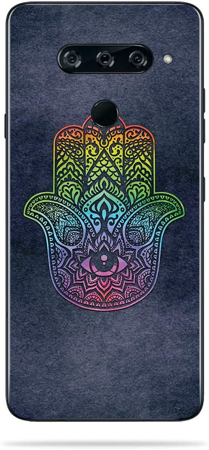 Rainbow Hamsa MightySkins Skin Compatible with LG V40 ThinQ Easy to Apply and Unique Vinyl Decal wrap Cover Made in The USA and Change Styles Durable Remove Protective