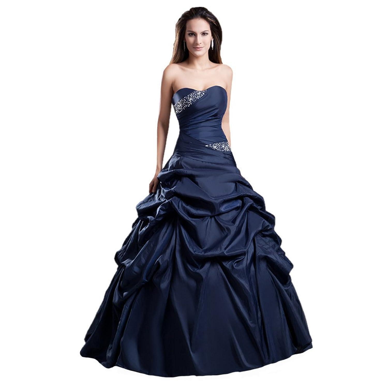 Jspoir Melodiz Women's Satin Strapless Ball Gown Wedding Dress