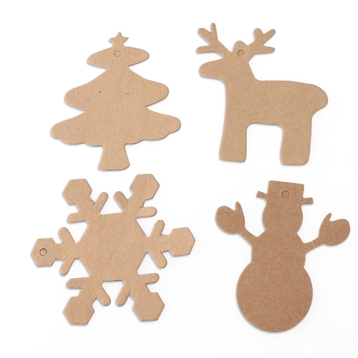 PIXNOR Weihnachten Paket Tags überbackene Kraft Papier ...