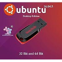 Ubuntu 16.04.5 Unity 32 Bit and 64 Bit Live Bootable 16GB USB Pen Drive