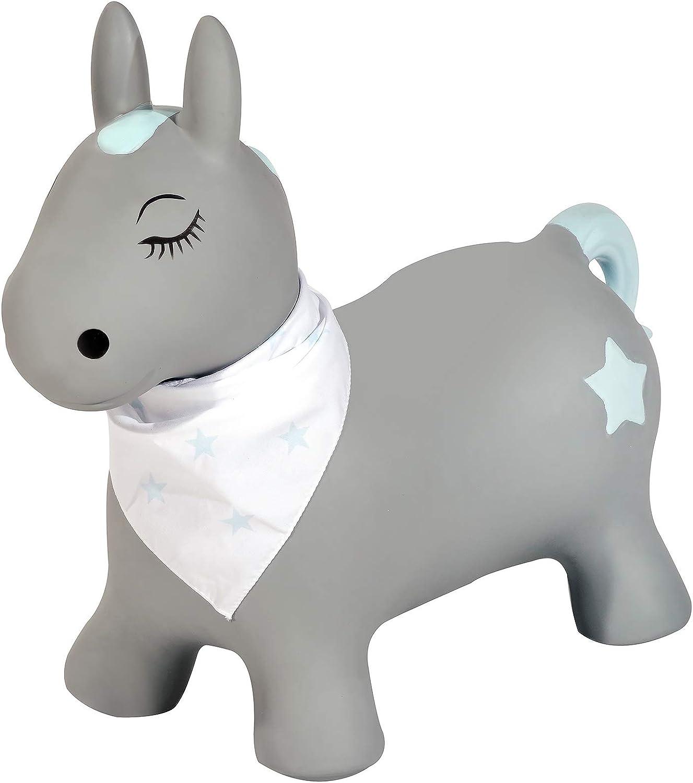 Kindsgut Animal para Saltar, Animal de Salto, Saltar, Poni, brincar, para Bebes & niño pequeño, Inflable, con inflador, Unisex, ecológico/Libre de contaminantes