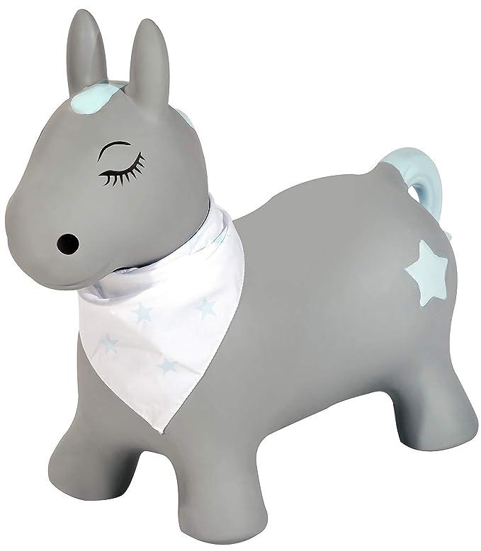 Kindsgut - Animal saltarín, Animal Hinchable para Saltar, brincar, Poni