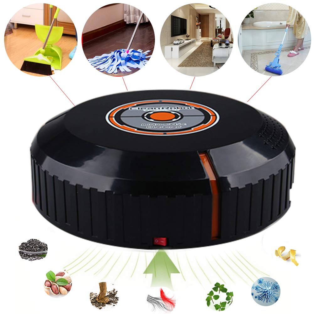 Robotic Vacuum Cleaner, with Mop and Water Tank High Suction, Super Thin, Extremely Quiet, Upgraded Auto Charging/Strong Suction/Infrared Sensor/Drop Sensing Sweeping Mopping (Black) by Carole4 (Image #5)