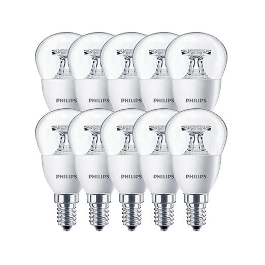 Philips 45483100 a + LED – Bombilla, cristal, 5,5 W, E14