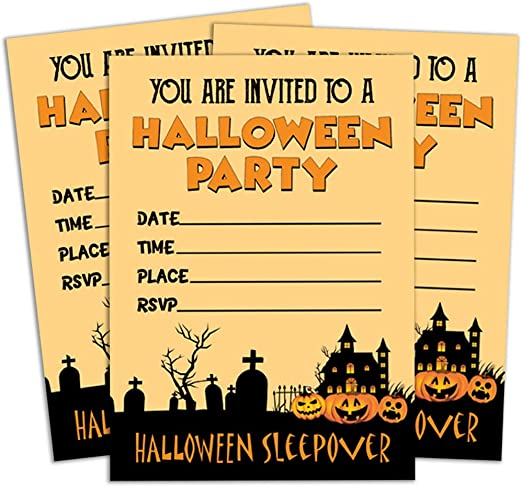 Wondrous Amazon Com Darling Souvenir Orange Halloween Invitation Card Personalised Birthday Cards Paralily Jamesorg