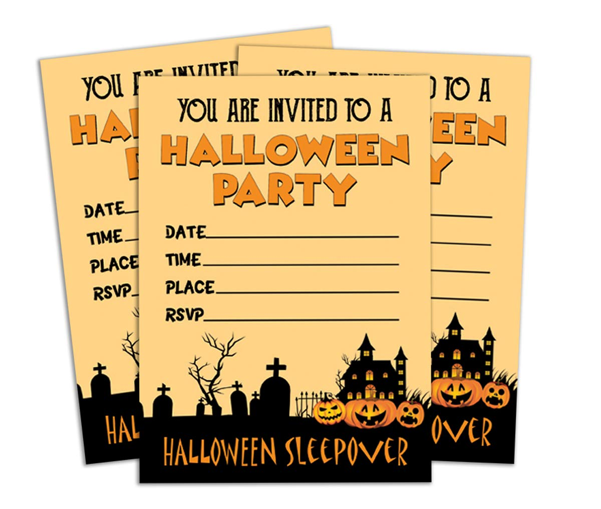 photograph about Halloween Invitation Printable known as : Darling Souvenir Orange Halloween Invitation