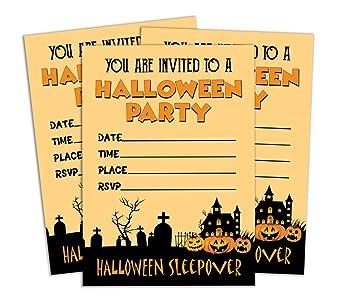 Amazon Com Darling Souvenir Orange Halloween Invitation