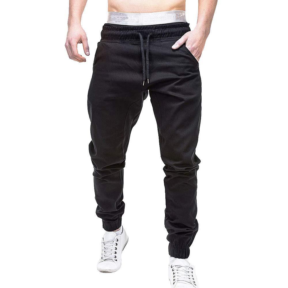 f6ec6ba2d5 Men's Active Basic Jogger Pants Sport Bandage Casual Loose Sweatpants  Drawstring Pant