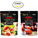 Wild & Raw Sun Dried Organic (Turkish Figs & Deglet Noor Pitted Dates), Pack of 1 Organic Dried Fruit
