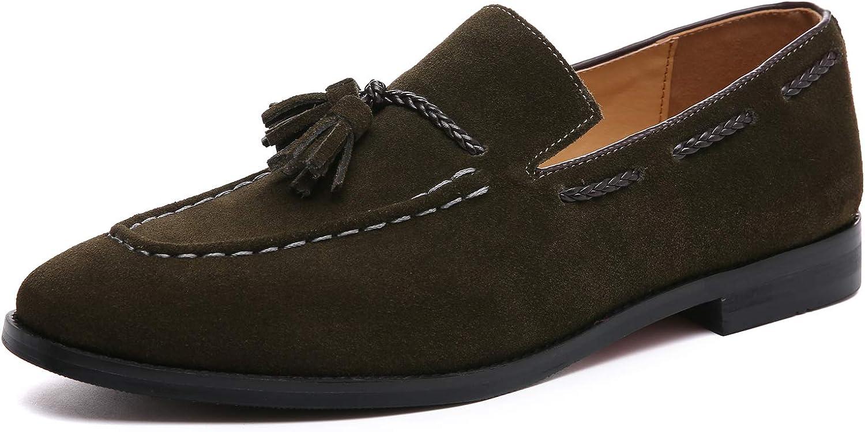 Men/'s Tassel Slip On Loafers Casual Driving Moccasin Shoes Formal Dress Wedding