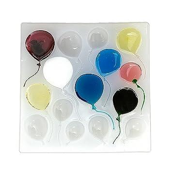 Molde de arcilla para globos, resina epoxi, colgante de silicona con moldes para joyería, collar para hacer y hacer manualidades, fondant Candy Molde: ...