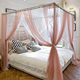 XRXY Mosquito Net Stitching Color Creative Encryption Mosquito Net/Increase Practical Square Double Bed Mosquito Net/Floor-Standing Lace Bed Mantle (Size : 2.0m)