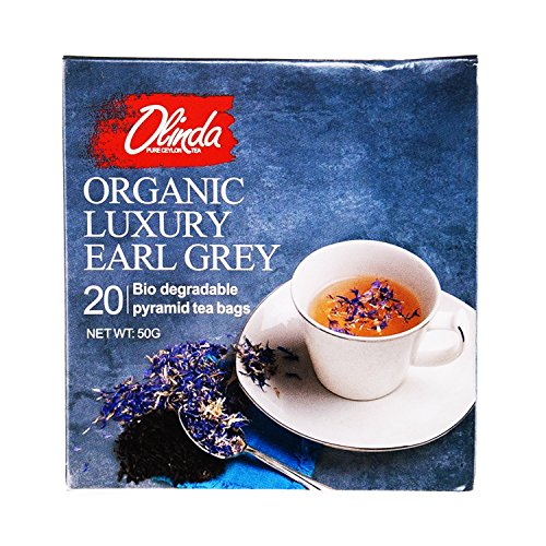 Organic Luxury Earl Grey Tea 18 Boxes (1 Box Contains 20 Tea Bags) by Olinda