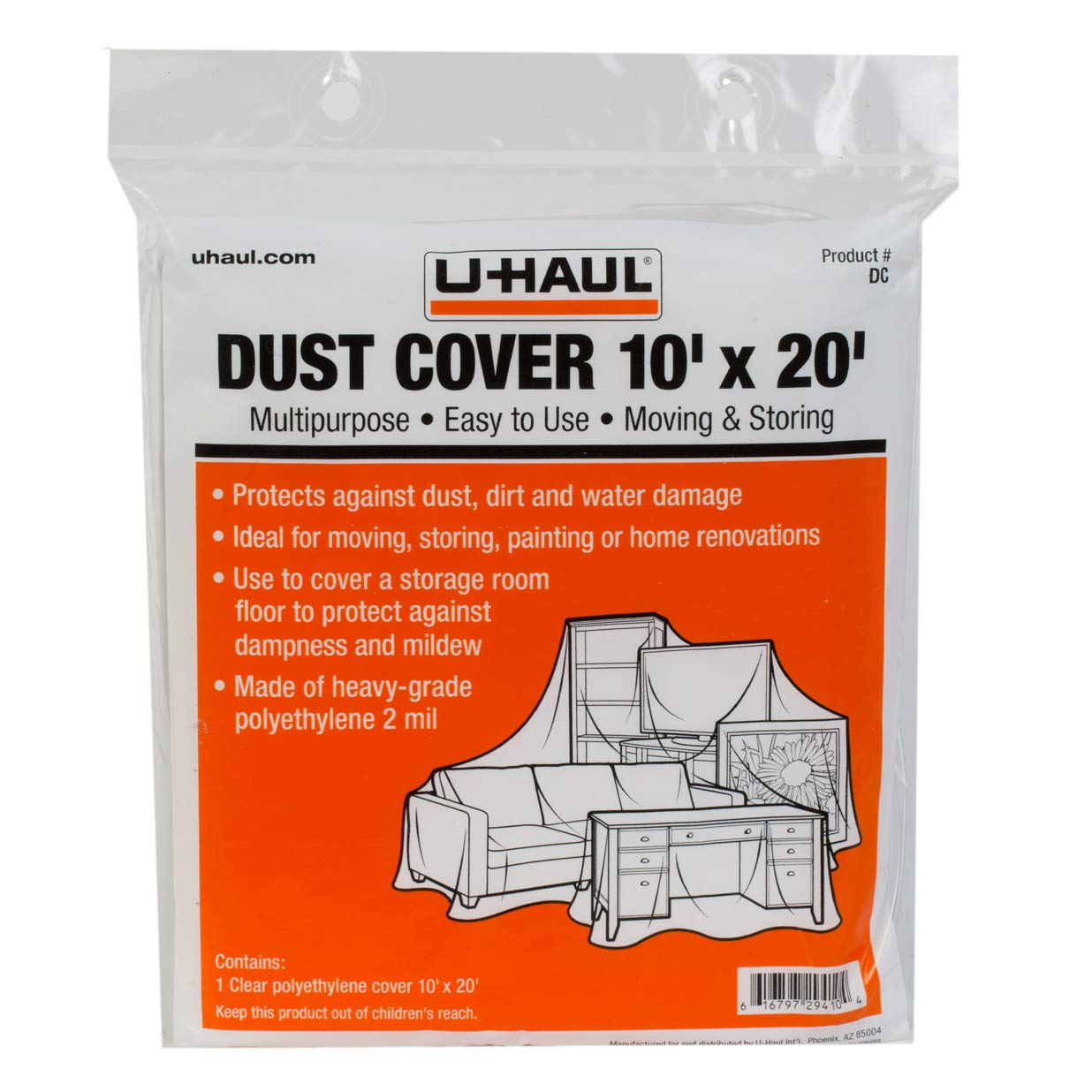 U-Haul Moving and Storage Dust Cover - 10' x 20'