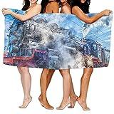 KTMB Steam Train Railway Train Station Washable Extra Large Bath Beach Towel Soft Personality Towel