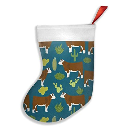 qiffan22 cow and cactus christmas stockingsxmas stockingchristmas decorationsclassic xmas stocks