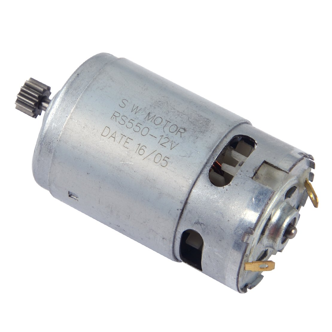12V RS550 Motor for Electric Screwdriver Cordless Drill 12 Teeth Gear & 3mm Shaft Diameter