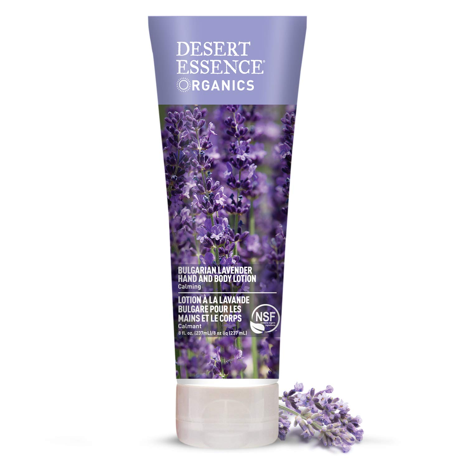 Desert Essence Bulgarian Lavender Hand & Body Lotion - 8 Fl Ounce - Calming - Shea Butter - Aloe Vera - Soothes & Nurtures - No Oily Residue - Honeysuckle - No Parabens