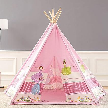 SSLW Tienda de campaña para niños Niña Princesa Tienda de niños Casa de Juegos para bebés Casa de campaña Casa de Juegos Casa (Rosa): Amazon.es: Deportes y aire libre