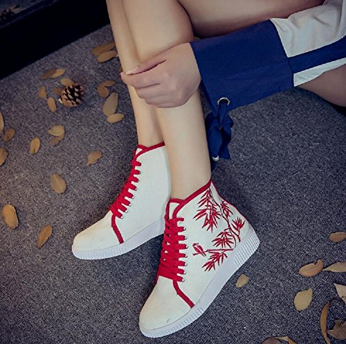 red Baskets pour femme mode Lazutom wRdIqvI
