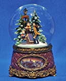 Musical Snow Globe Carolers Home Christmas Glitterdome Collection Roman 36302C