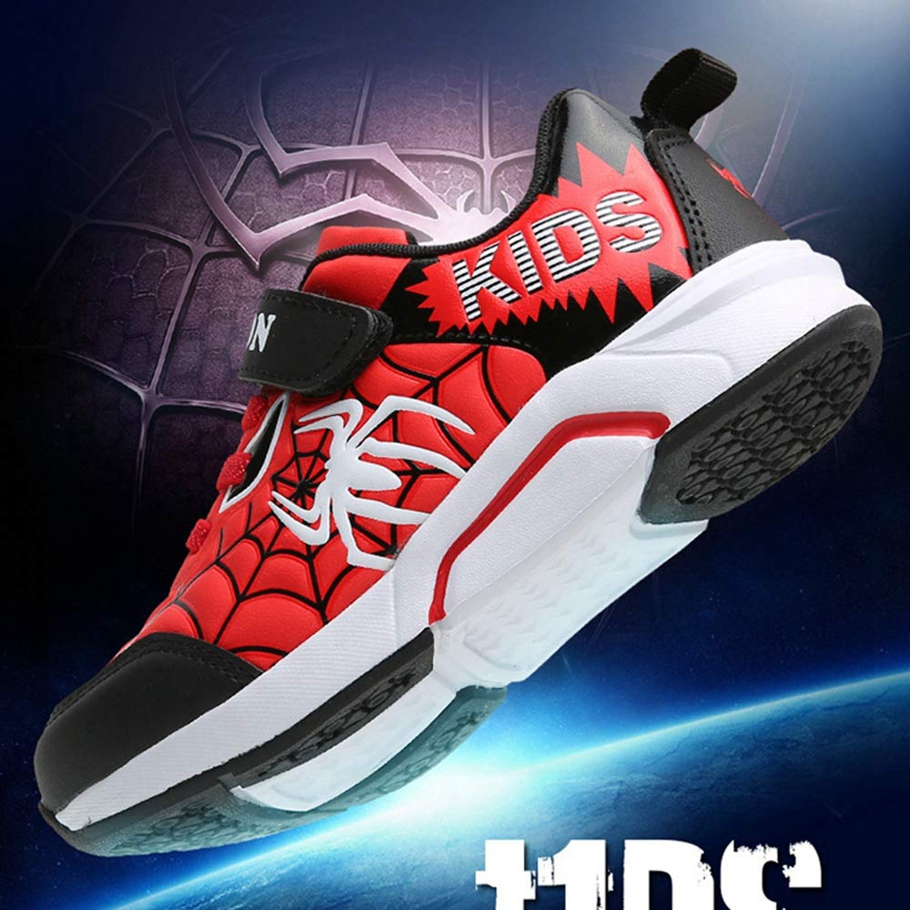 ANKIDS Fashion Kids Boys Spider Leather Running Shoes