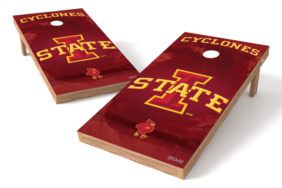 Wild Sports NCAA College Iowa State Cyclones 2' x 4' Authentic Cornhole Game Set
