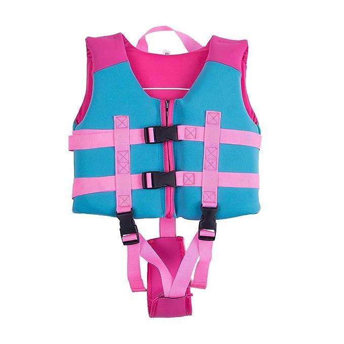 058f239b7aad Sundwsports Chaleco de Flotación para Niñas Chaqueta de Entrenamiento para  Nadar para Niños Aprenda a Nadar