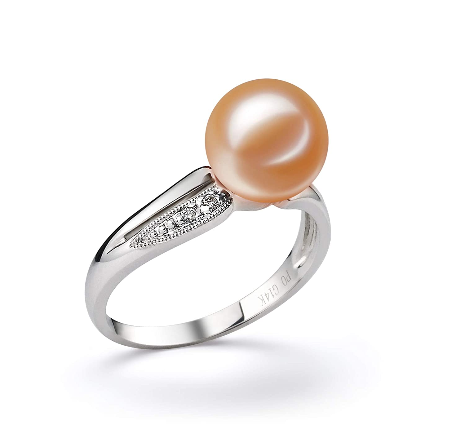 Fine Jewelry 14k Weißgold Freshwater Cultured Perle Ring Jewelry & Watches