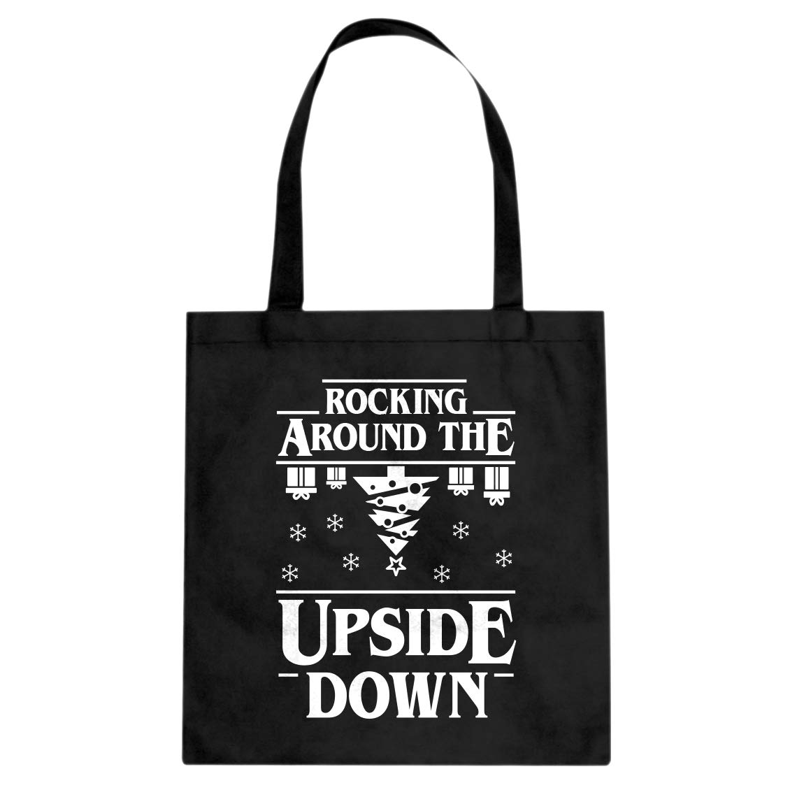 Indica Plateau Rocking Around the Upside Down Cotton Canvas Tote Bag