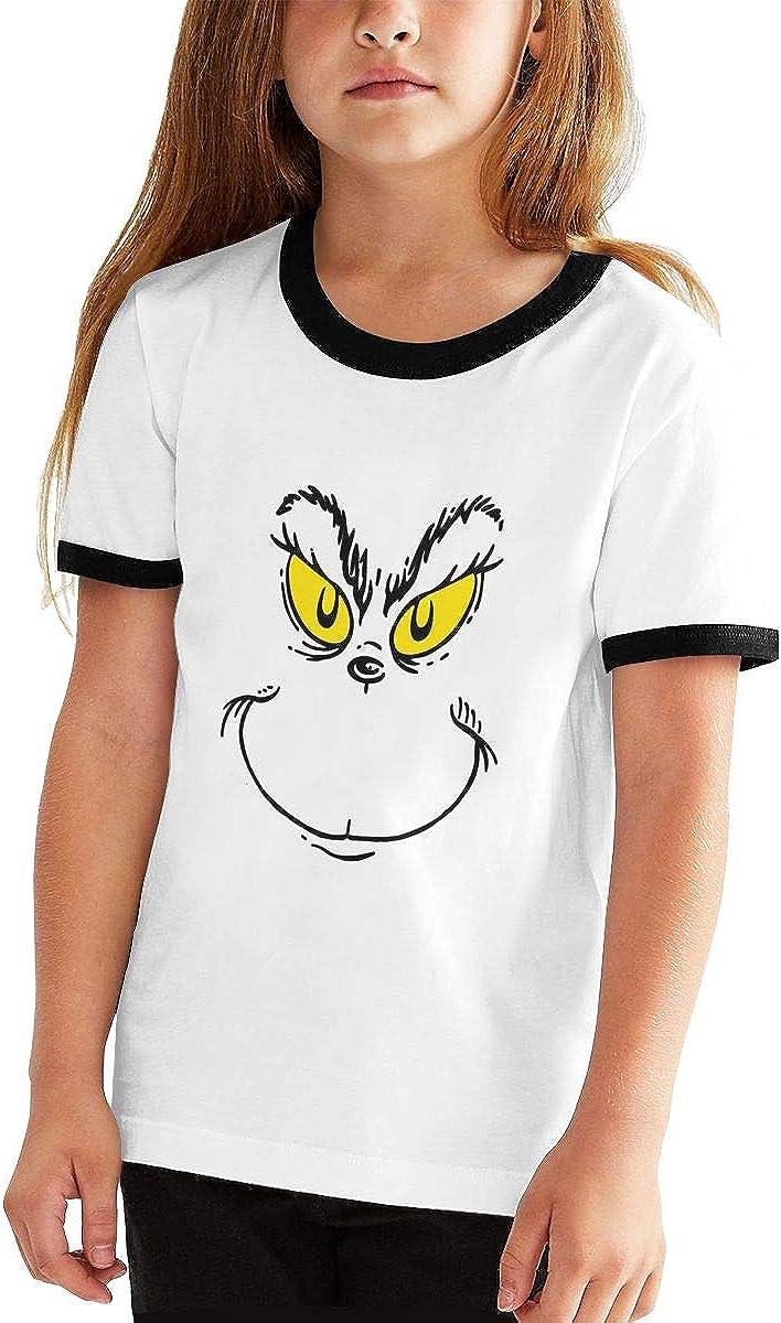 Camiseta Deportiva de Manga Corta para niños y niñas, diseño de Grinch Face Teens - Negro - Small: Amazon.es: Ropa y accesorios