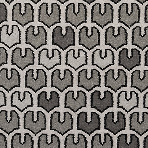 Surya AMD1080-268 Hand Woven Geometric Runner Rug, 2-Feet 6-Inch by 8-Feet, Salmon/Beige/Light Gray/Charcoal - 8' Runner Salmon