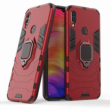 Ougger Funda para Xiaomi Redmi Note 7 Carcasa Multifuncional Tapa Armadura Protector Absorción de Impacto [Soporte de vídeo] Tapa Duro Plástico + ...