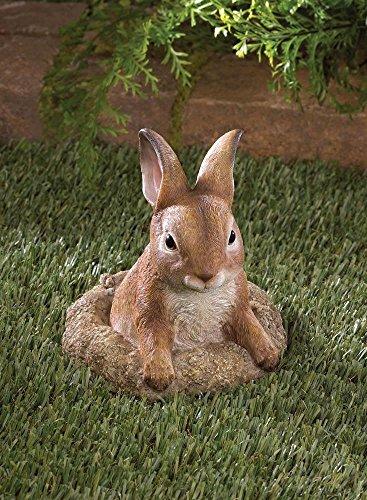 Garden Decor Cute Realistic Curious Bunny Rabbit Yard Garden Decor