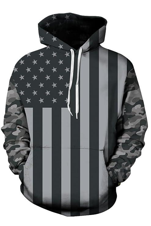KAKALOT Unisex Fashion 3D Digital Print Pullover Hoodies Sweatshirt Jacket