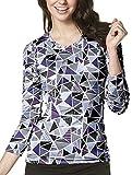 WonderWink Women's Layers Printed Long Sleeve Tee, Looking Glass, Small