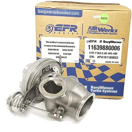 Amazon.com: BorgWarner EFR B1 7163F Turbo (11639880006) w/V-band .85 A/R WG Turbine Housing: Automotive