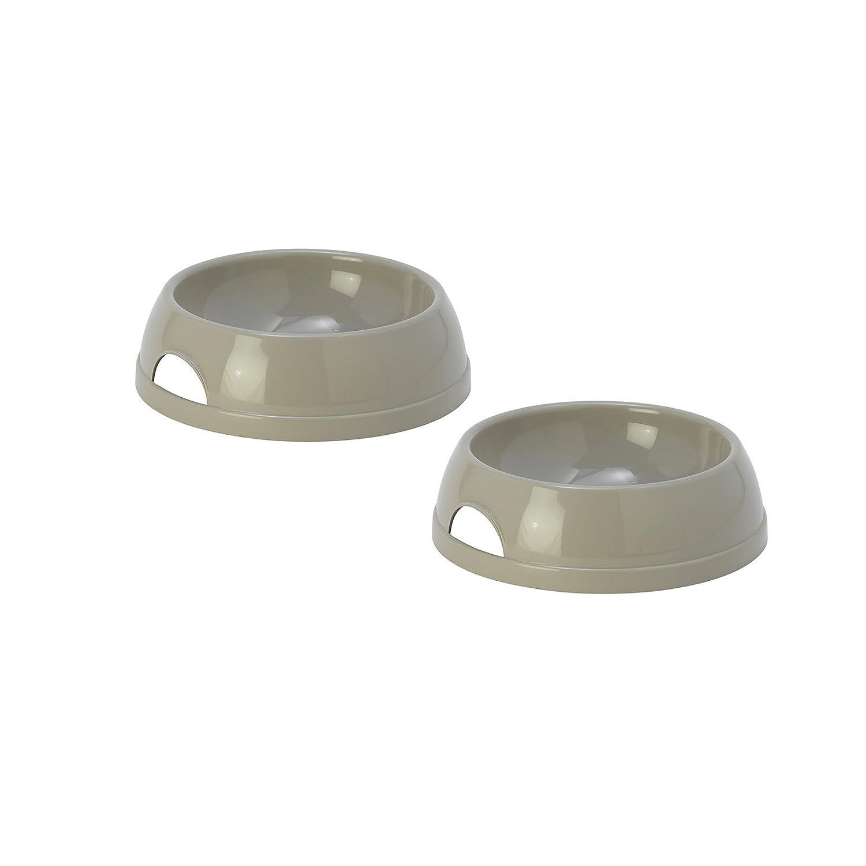 2 Grey Eco Bowls 0.47L Cat Kitten Pet Animal Dog Bolting Darts
