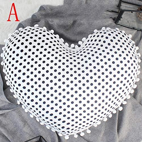 LeiQuanQuan Amor Almohada Cama de algodón cojín cojín ...