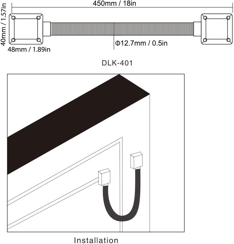 """Alloy Door Loop For Exposed Mounting Prevent Wire From Malicious Damage Broken, 18"""" Long, 1/2"""" Id  Camera & Photo"""