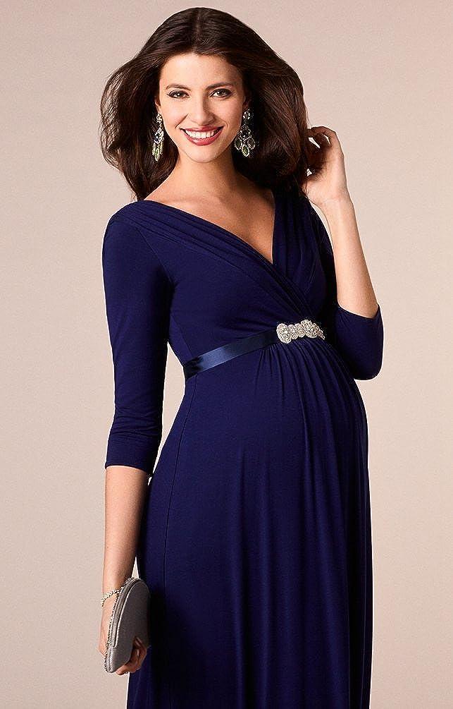 Binhee Vestido De Manga Corta De Mujer Embarazada Vestido De Maternidad Azul Delgado: Amazon.es: Ropa y accesorios