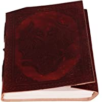 """Purpledip Leather Diary/Journal / Notebook""""Dancing Dragons"""" for Personal Memoir or Unique Gift (10105)"""