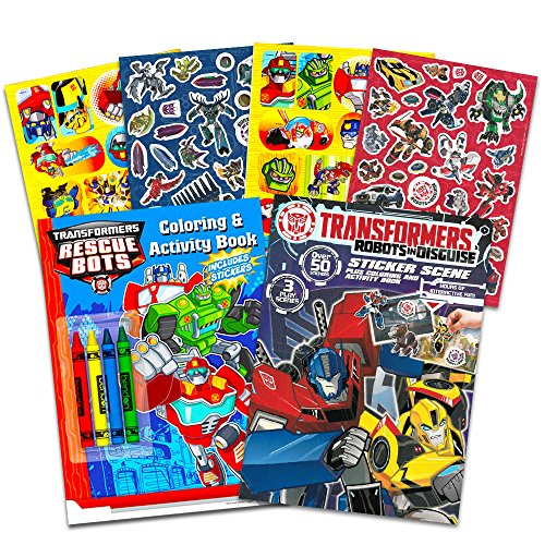 Transformers Rescue Coloring Activity Books