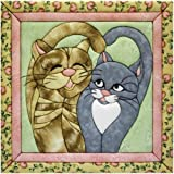 quilting pre cut kits - Quilt Magic 12-Inch by 12-Inch Cats Meow Kit