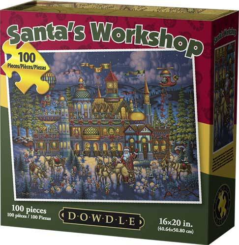 - Jigsaw Puzzle - Santa's Workshop 100 Pc By Dowdle Folk Art