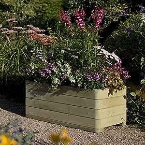 Rowlinson English Garden Wooden Rectangular White Planter