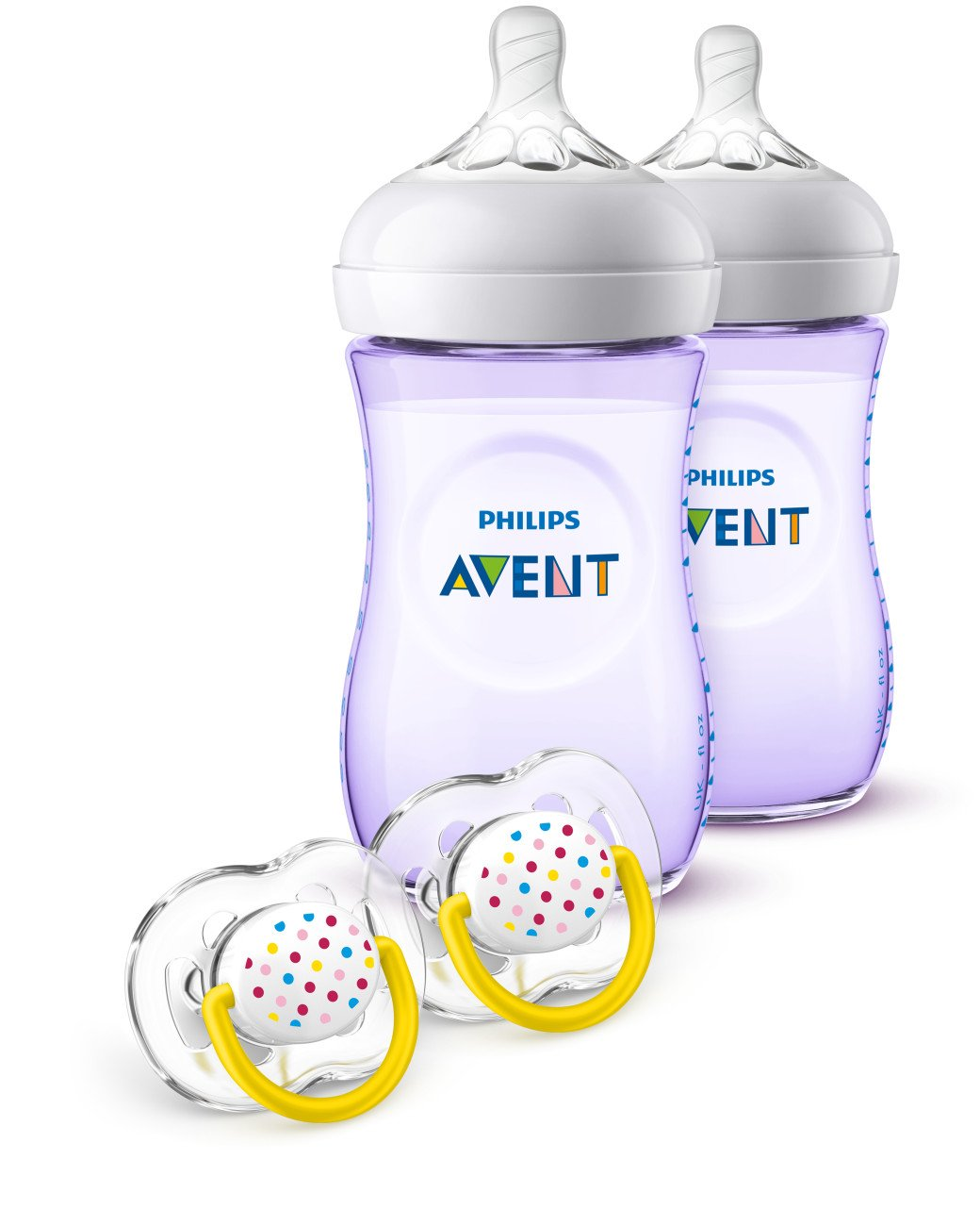 Philips Avent Natural Baby Bottle Purple Gift Set, SCD113/23 075020068712